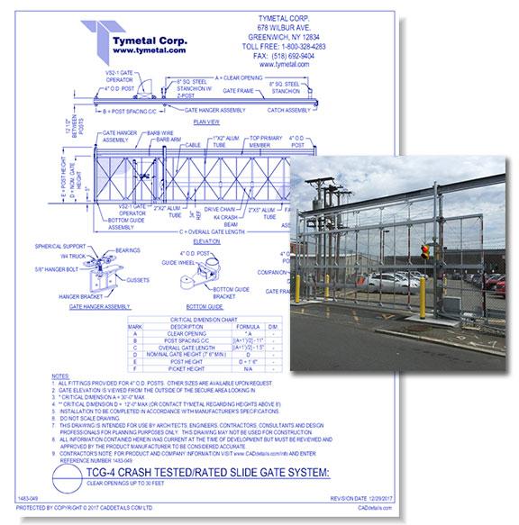 TCG-4 Crash Tested/Rated Cantilever Slide Gate System