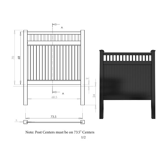 Picket Top Privacy Fence