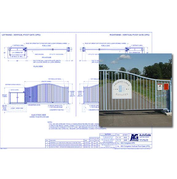 600 Congress Vertical Pivot Gate