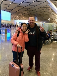 Saying goodbye to my friend Naomi Li at the airport, next stop Shanghai for a 2-day VBT workshop!