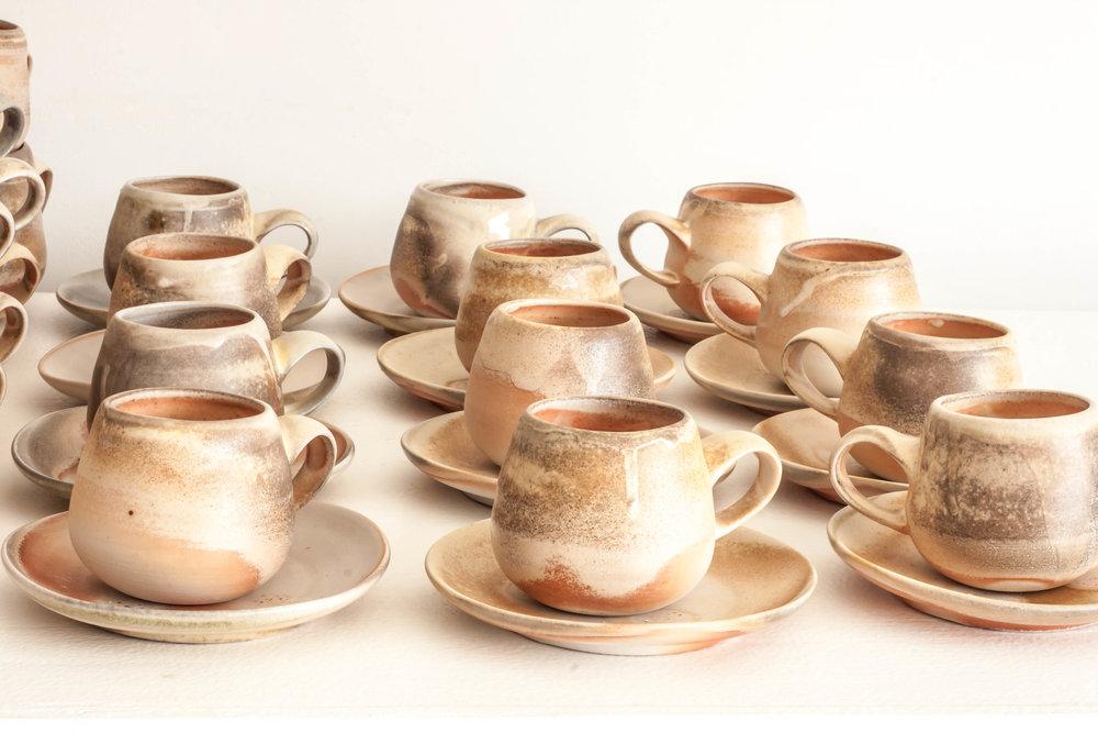 Anagama Espresso Cups Saucers