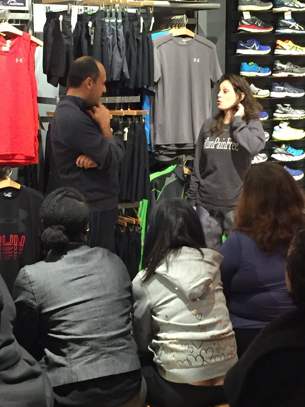 #RunPainFree Workshop on the UES in NYC. Join our newsletter to know when the next event will happen.