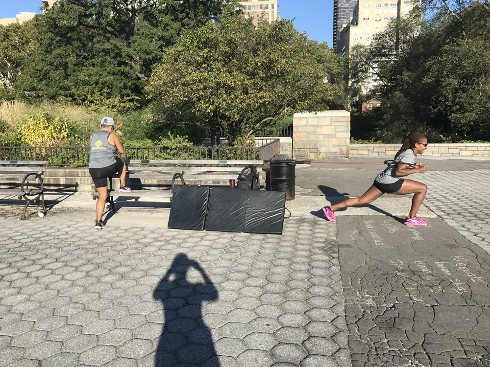 #RunPainFree Ambassadors Yvette and Ana Tag team a session summer 2017.