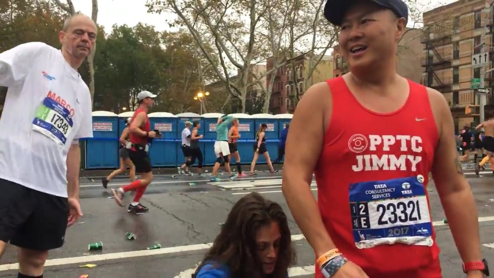 NYC Marathon mile 22! Jimmy's 3 of 3 marathons in 6 weeks, challenge... and He PR'd here!