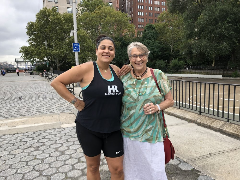 Philippa and her Mom at one of her #RunPainFree sessions!