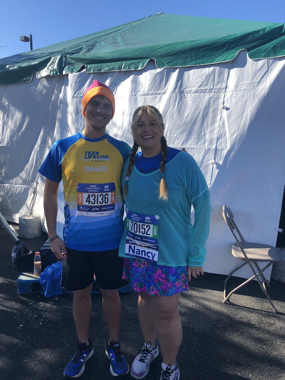 Marathon Village 2018, helping a fellow group member
