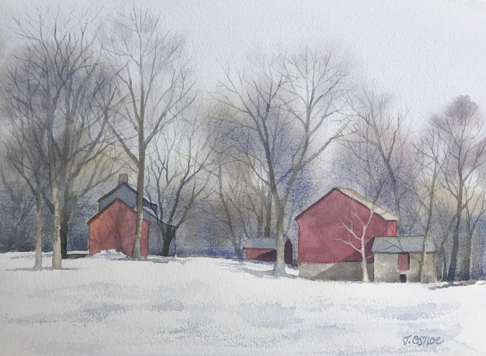 Along A Country Road   watercolor  Awarded the Holbein Materials Award Garden State Watercolor Society 48th Annual Juried Show 2017