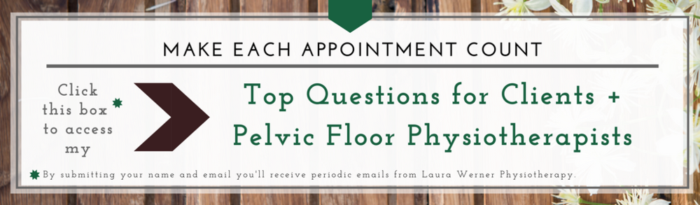 Top questions for clients and pelvic floor physiotherapists. What questions should i ask my physiotherapist? what questions should i ask my pelvic floor physiotherapist? What questions should my physiotherapist ask me? What questions should my pelvic floor physiotherapist ask me? What questions should I ask my physiotherapy clients? What questions should i ask my pelvic floor physiotherapy clients?