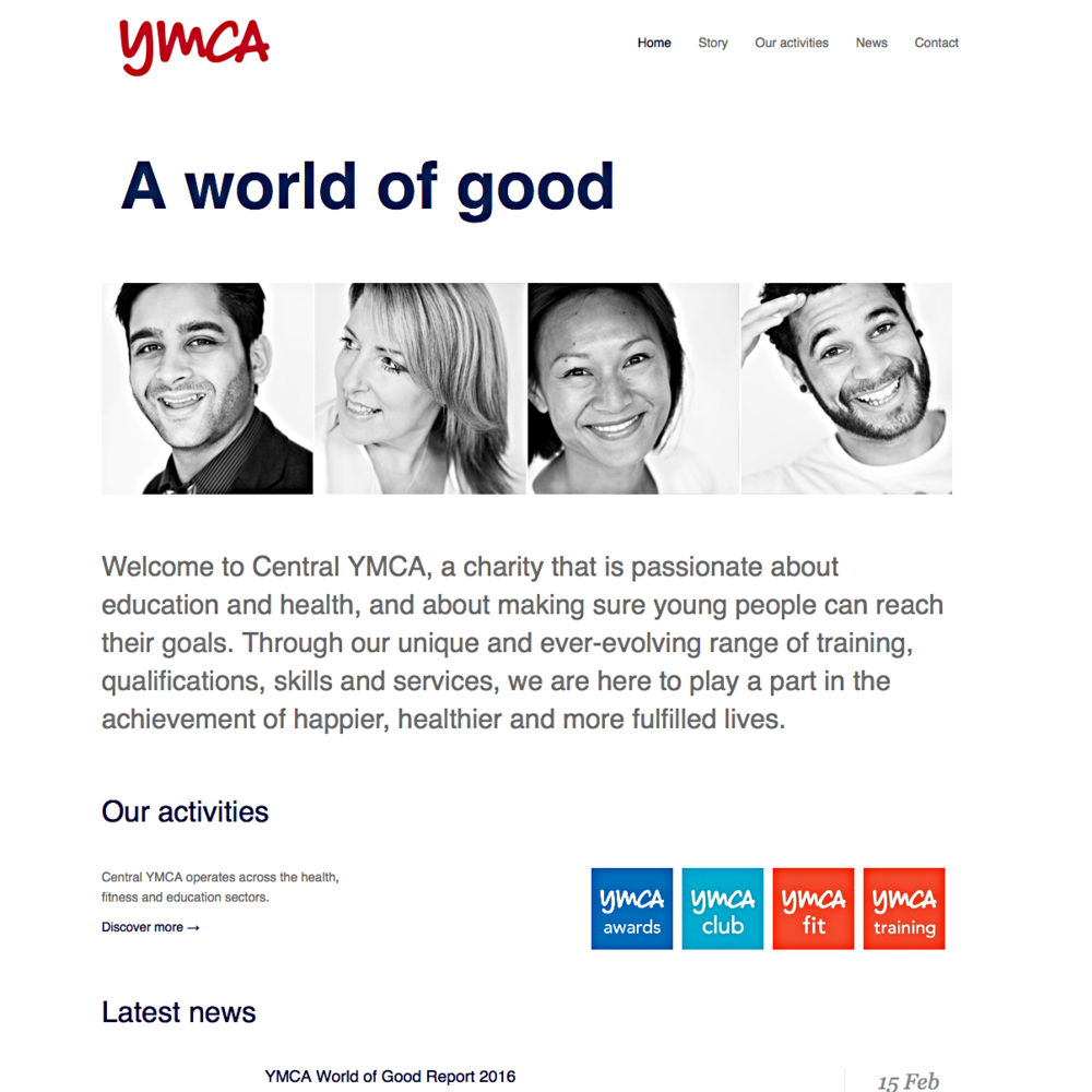 Original homepage