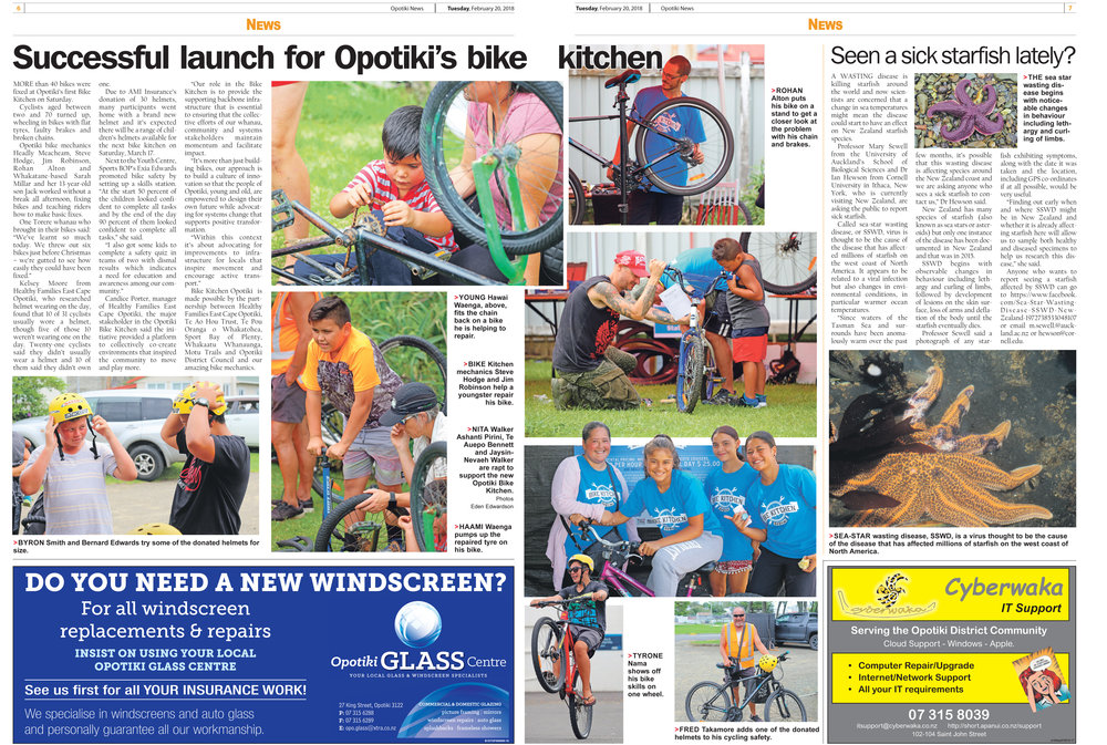 A great launch for our first Bike Kitchen!        http://www.opotikinews.co.nz/blog/777028