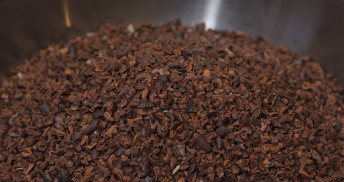 Garçoa bean to bar chocolate production - Cocoa nibs.jpg
