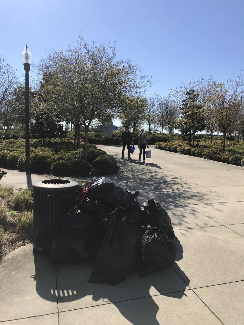 Fifteen volunteers picked up 13 trash bags of beverage containers, styrofoam and cig butts. Thanks Jackie Price for breakfast snacks
