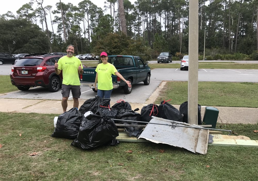 - Volunteers picked up 543 lbs of trash at NLO and Bob Sikes Bridge. A further 990 cig butts & 700+ straws at Quietwater Beach - 10,083 lbs!