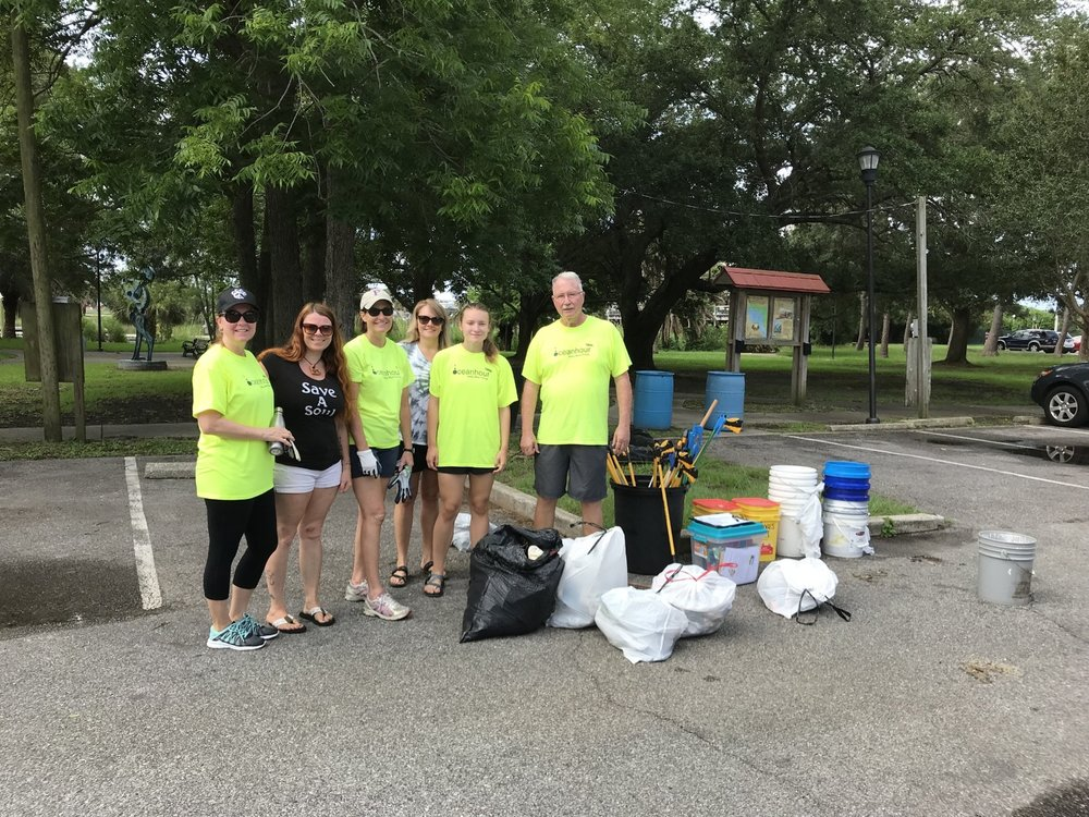 - Including Bartram Park, 46 volunteers picked up 271 lbs of debris