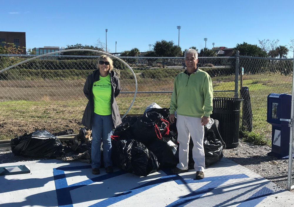 - One site - Bruce Beach - 710 lbs of trash picked up! The dominate item was plastic bottles (202) - what a great location for a WATER BOTTLE FILL STATION!!Nat'l Seashore can thank Andy for 2 cleanups totaling 286 lbs during the week before the shutdown