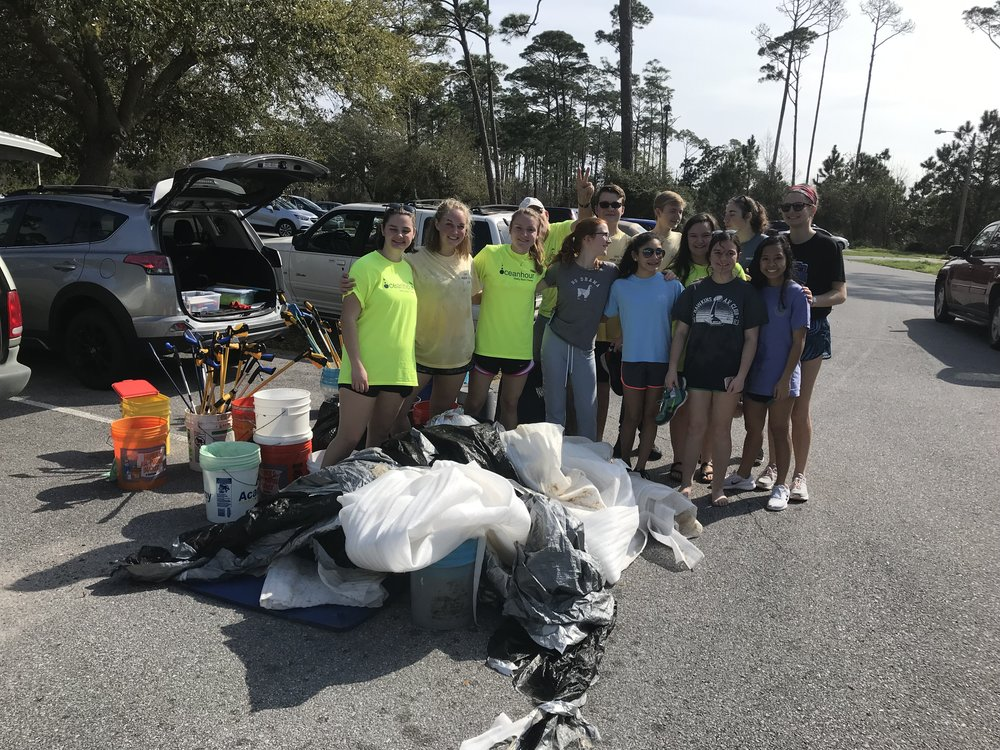 - Naval Live Oaks, Bob Sikes Bridge and UWF picked up 428 lbs. Thanks to the GBHS Marine Science, Nat'l Science Honors Society and SEAS - UWF