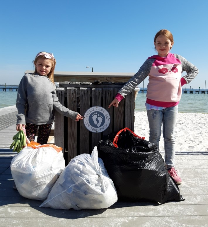 - Volunteers picked up a total of 227 lbs of trash at Casino Beach, Bartram Park and Wayside/Pensacola Visitor Centre