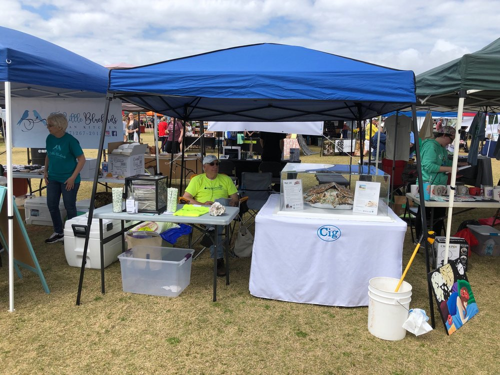 - staffing booths for the 2nd Annual Pensacola VegFest and 19th Annual SeaGrass Awareness Celebration. Also having two cleanups at Bruce Beach and Payne bridge over Bayou Texar totaling 335 lbs.So far this year 7,449 lbs of debris have been collected from our beaches!