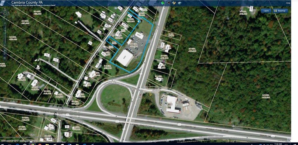 4009 William Penn Avenue Aerial Tax Map.JPG