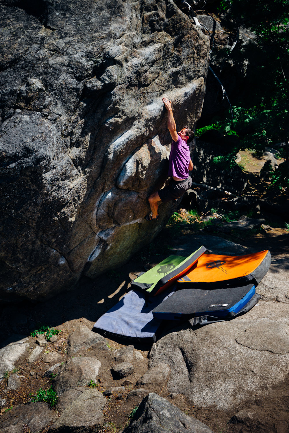 6. This is a shot of a boulderer on Funny and Cheap (V4) at Forestland Boulders, Leavenworth, WA.