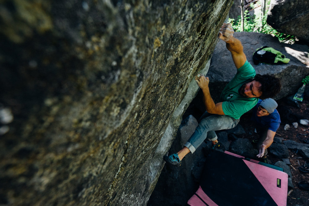 7. This photo and the next were also taken in Leavenworth, WA. This is Ben Trapanese on The Coffee Cup (V10) at Forestland Boulders. Leavenworth, WA.