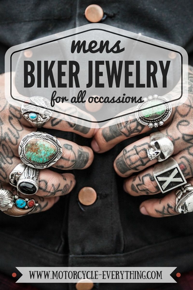 Cool Mens Biker Jewelry For Motorcycle Riders