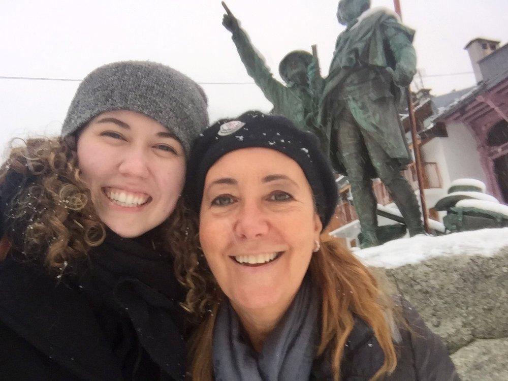 My host mom and I in Chamonix