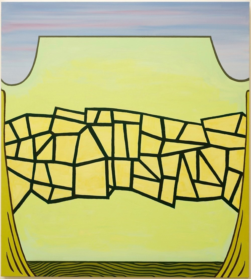 """Untitled  (Bridge) 2015  oil on linen  40"""" x 36"""""""