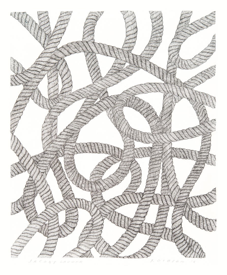 """Jacobs Ladder ink on paper 22"""" x 15"""""""
