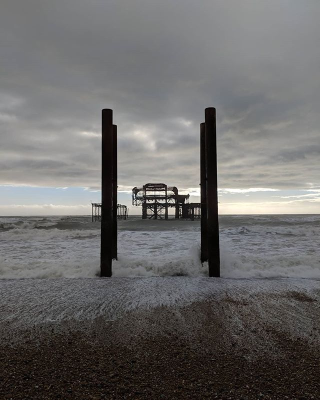 #westpier #westpiertrust #windy #weather #brighton_ig #brighonbeach #brighton #pixel2
