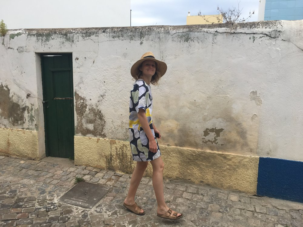 Me being goofy in Santa De Luz near Tavira, Portugal