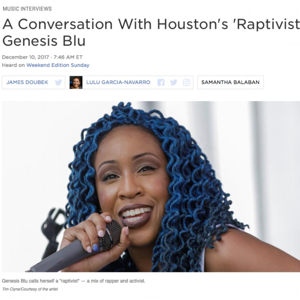A Conversation With Houston's 'Raptivist' Genesis Blu -