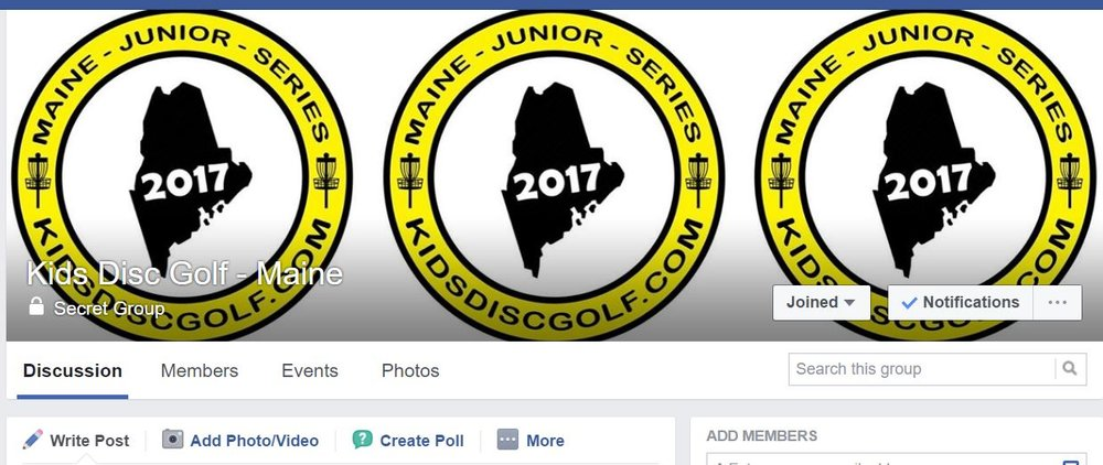 Kids Disc Golf - Maine Facebook Group