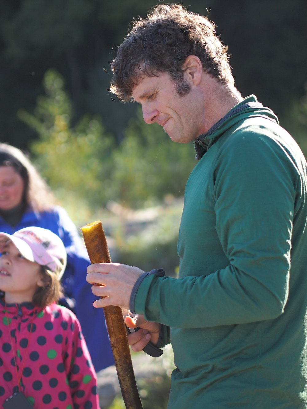 Making a sea kelp didgeridoo with students at Seahurst Park in Burien
