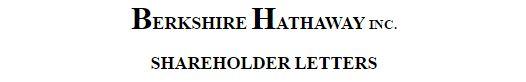 Berkshire Hathaway Annual Letters by Warren Buffett