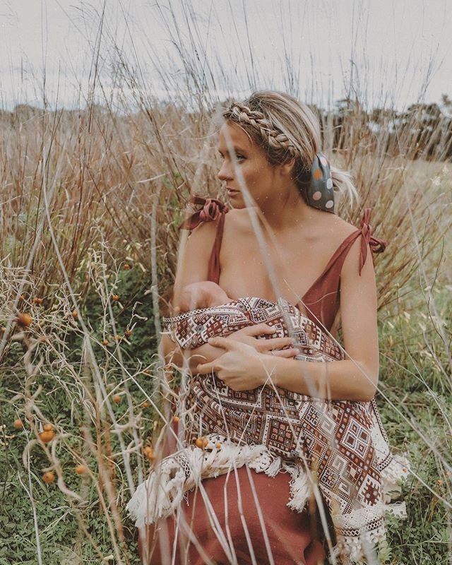 I can't answer why I'm always tits out in a field, but I can confirm it is much more accepted now than it was pre-pregnancy. Also I love my dress and the jacket bundling my baby #breastfeedingweek @wildewillow @theiconicau