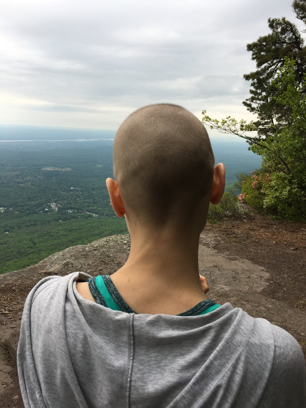 Hiking in the Catskills. Look at all my hair!