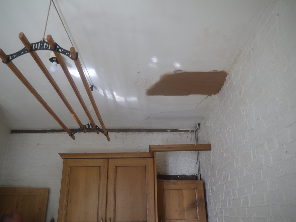 The damp man's attempt to patch the problem...