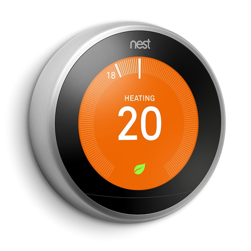NEST LEARNING THERMOSTAT    £189.99  Another great gadget to monitor your heating from afar, as well as becoming more eco friendly by learning your routine.