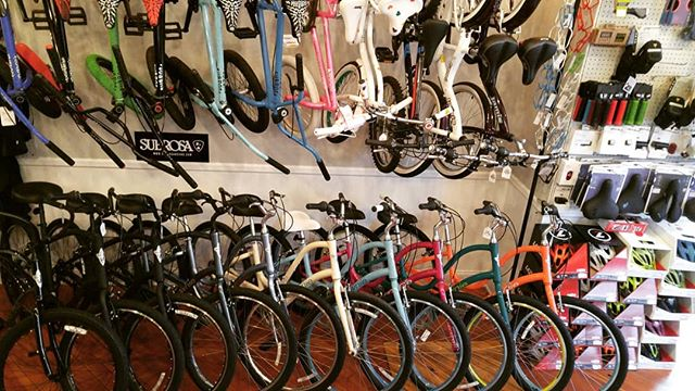 What do you think of the color selection!? @matawanbikeshop  732-696-2487 . . . . #saturday #spring #cycling #monmouthcounty #Matawan #oldbridge #bicycle #bmx #subrosa #electra #ride #keyport