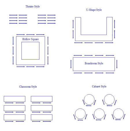 Conference Room Table Plan Diagram