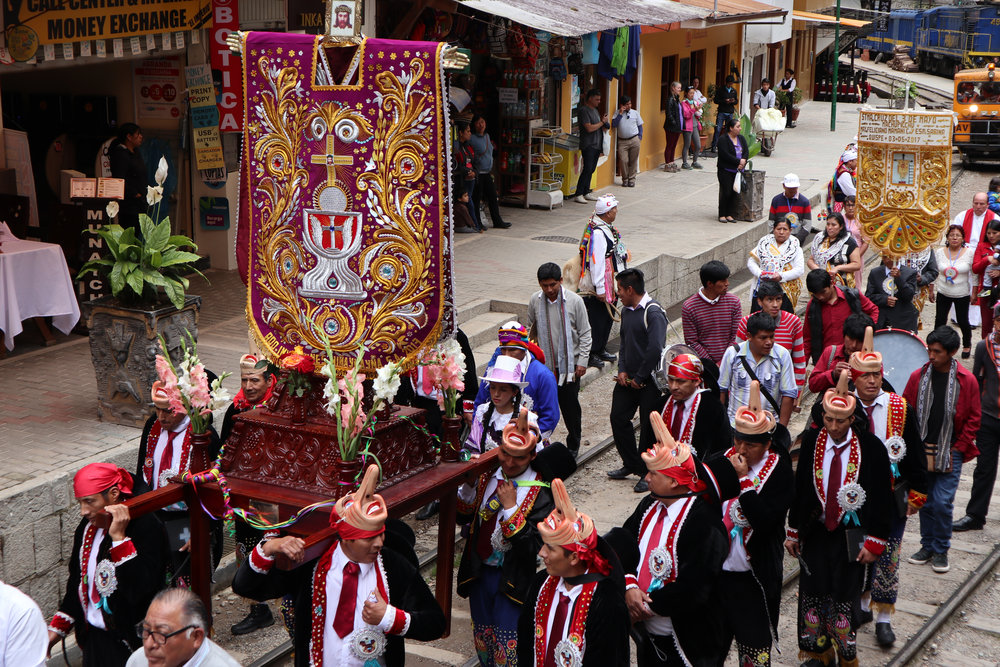 Fiesta de las Cruces (Festival of the Crosses), May 3,Aguas Calientes