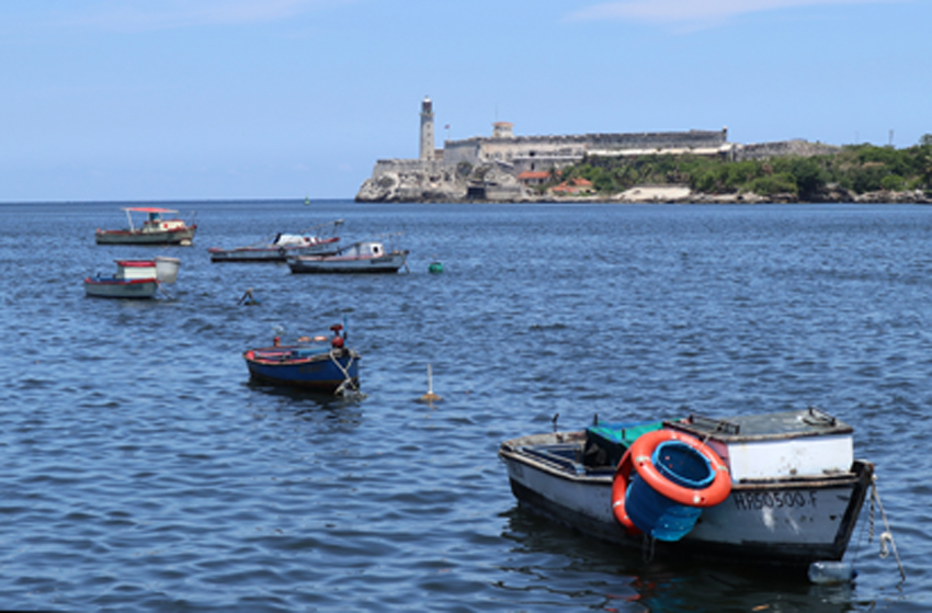 The harbour in Havana