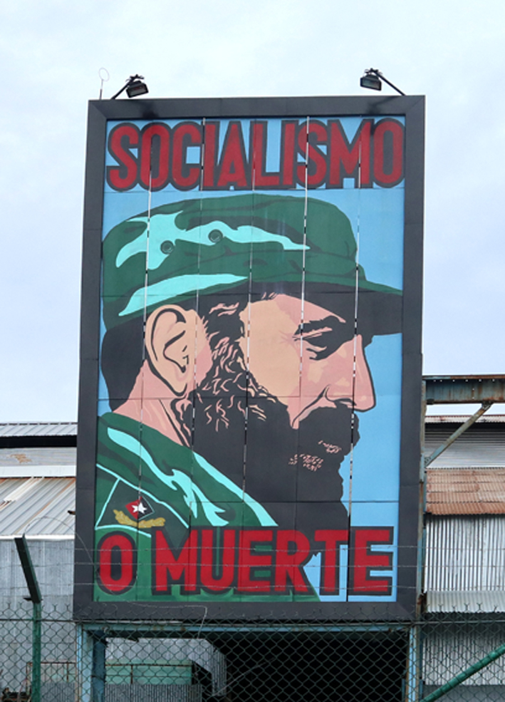 Socialism or death - a popular catchphrase. This one isn't quite so catchy ...