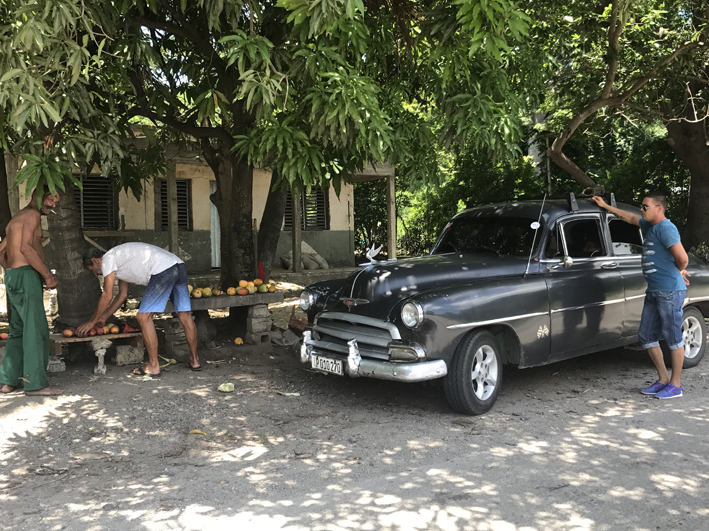 1952 Chevrolet - and Geoff buying mangoes