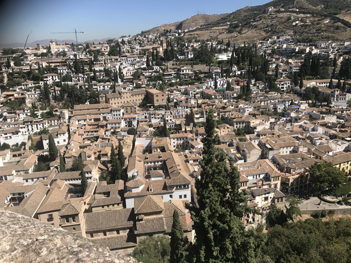 One of many spectacular views of Granada