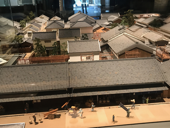 A model of what no longer exists - an old Osaka district