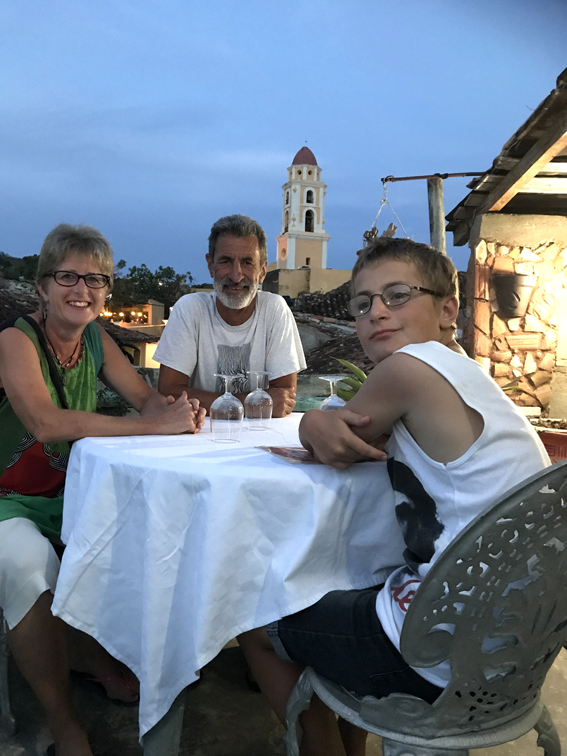 Dinner, Trinidad, Cuba. Just before we got the dice out