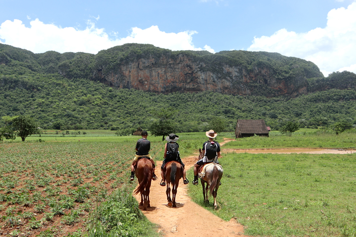 And again, in Vinales. Sam on left, with me (centre) and Ben on right