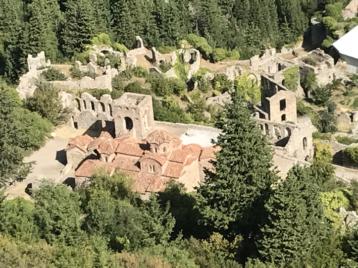 the lower part of Mystras, from above